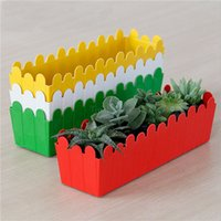 Wholesale Large Rectangular Minimalist Gardening Plastic Flower Pot For Home Desktop Flower Green Plant Decoration