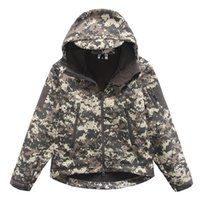 Wholesale Kid s Military Waterproof Windproof Outdoor Camping Jacket Youth Camo Camouflage Hiking Jacket Coat