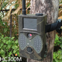 Wholesale 940NM Scouting HD Hunting Camera MMS GPRS Digital Infrared Trail Camera GSM Outdoor Caza IR LED Wireless Remote Control DHL Y0514