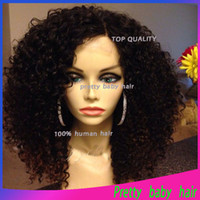 Wholesale Unprocessed Virgin Peruvian Lace Wig Afro Kinky Curly Full Lace Lace Front Wigs Human Hair Glueless with Bleached Knots Pretty