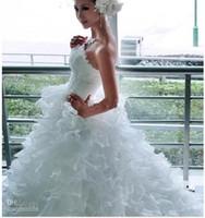 big beautiful brides - Beautiful Mermaid Princess Bride Fashion Models Big Fluffy TailL Long Tail Wedding Dress Bridal Gown High Quality