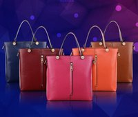 Wholesale Hot Luxury Women Genuine Leather Tote Bag Temperament Lady Solid Color Leather Shoulder Bag Cross Body Simple Fashion Designer Handbags