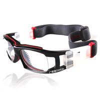 basketball goggles - Professional Sports Glasses Basketball Goggles Anti fog Explosion proof Eyeglass Frame PC Lenses Myopia Eyewear Frame Rack Color