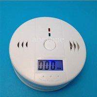 Wholesale Smoke CO Carbon Monoxide Gas Detector Smoke Home Alarm Safety Gas Fire Poisoning Smoke Detectors Warning Alarm Sensor Alert LED Display