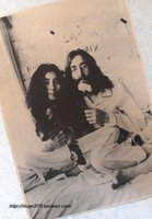 Wholesale Beatles singer John Lennon and Yoko kraft paper poster retro nostalgic rock surrounding rock poster