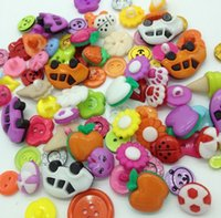 apparel sewing button - 200pcs mix styles cute plastic buttons kid s apparel sewing accessories DIY crafts B056