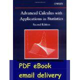 application calculus - Advanced Calculus With Applications In Statistics nd Edition