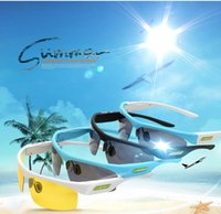 Wholesale Smart Bluetooth Adult Polaroid Sunglasses Wireless Earphone Fashion Goggles Headset For Iphone Android Day and Night Use in retail box