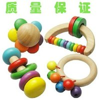 Wholesale Wooden Baby Handle Bell Fit for the Kids Kinds Good Quality Baby Rattles Mobiles