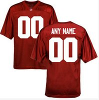alabama crimson - Factory Outlet Custom Alabama Crimson Tide College Football Jersey Personalized Red White Double Stitched Top Quality Jerseys Any Name Numb
