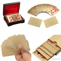 Wholesale 1 X New K Karat Gold Foil Plated Game Poker Casino Playing Card Special Gift A5