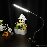 Wholesale Led reading eye protection desk lamp with Clip two level brightness switch dimmer table lamp L0883