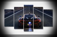 auto murals - A1706 Mclaren P1 Poster Car Auto Art print home decor stretched framed HOT gallery wrap home wall decor handmade print