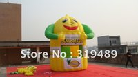 air banners - best selling inflatable smiling face lemonade booth with digital printing banners free CE UL air blower carry bag