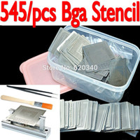 Wholesale 545pcs set Bga Stencil BGA jig direct heating Box for Bga Reballing Stencil Kit BGA reballing kit order lt no track