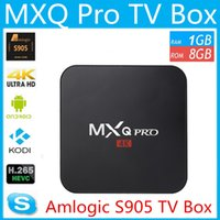 Wholesale 10p MXQ Pro TV Box Amlogic S905 Quad Core Android GB GB WIFI K HDMI H Kodi Pre installed OTT TV Box