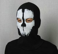 Wholesale Balaclava Mask call of duty AAAA Quality New Fashion X Ghosts Outdoor Hat Cycling Bike Motorcycle Windproof Mask CS Game Face Christmas