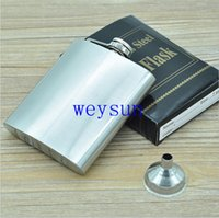 Wholesale 7oz Stainless Steel Liquor wine Flask with Hinged Screw On Cap