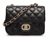 Wholesale Mini size Famous designer classical double flap Quilted Bags shoulder chain bag women handbag messenger cross body evening bag