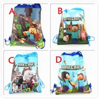 Wholesale HOT ITEM Minecraft Storage bag Minecraft Drawstring bags Non woven shopping bag Cartoon Backpack Creeper Draw String Sling Bag Gift Bag