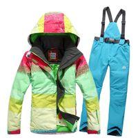 Wholesale Super Deals Women s Skiing Suits Snowboarding Female Ski Jacket Pants Waterproof MM Windproof XS L
