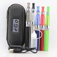 Wholesale Ce5 Vaporizer Kit - 2016 Rushed Shisha Pen for Vaporizer Ego Ce5 Starter Kit Atomizer Ego-t Battery 650mah 900mah 1100mah In Zipper Case Electronic Cigarette