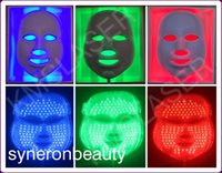 Wholesale PDT Photon LED Facial Mask Skin Rejuvenation Beauty Therapy Colors Lights Red Blue Green For Pigmentation Correction DHL CE
