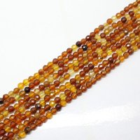 amber beads - Mini order is is mm Beautiful Faceted Amber Agate Round Loose Beads quot