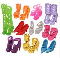 Wholesale Hot sale pairs Trendy Mix Assorted Doll Shoes Multiple Styles Heels Sandals For Barbie Dolls