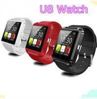 Wholesale Smartwatch U8 U Watch Bluetooth Smart Watch Wrist Watches for iPhone S S Samsung S4 S5 Note Note HTC Android Phone Smartphone p