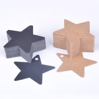 Wholesale 100pcs Hot Sale Star Kraft Paper Wedding Party Favor Price Gift Card Label Lage Tags White Black Brown Y50 JJ0291 M5