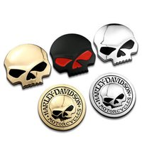 Wholesale 3D Metal Skull Car Sticker Car Moto Motorcycle Decal Sticker automotive styling for you