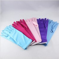 Wholesale 5 colors NEW froze Gloves Extra Long Elsa Accessory Gloves children cosplay Gloves baby girl party princess gloves DDA3092