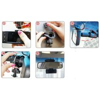 Wholesale 360 Rotation Rearview Car Mirror Bracket Holder For Dash Camera G1W G1W LS300W