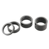 Wholesale 1set Carbon Fiber Headset Fork mm Washer Spacer kit quot Stem Road Bike Black Durable Useful High Quality