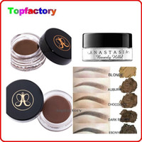 cream natural cream - 2016 New Arrival Anastasia Beverly Hills DIPBROW Pomade Blonde Auburn Chocolate Dark Brown Ebony colors Eyebrow Enhancers Waterproof Makeup