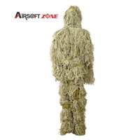Wholesale Ghillie Suit Sniper Camo Camouflage Hunting Paintball Woodland Training Cloth Bird Watching Ghillie Suits Disguise Uniform