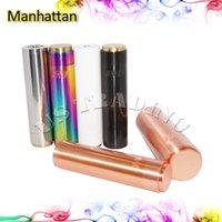 1: 1 Clone 18650 26650 Manhattan Mod Noir SS Rouge Cuivre Blanc Rainbow Manhattan Mod Modens Machanique Complet pour la Cigarette E