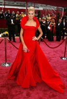 additional light - 2015 Hot Sale Sofia Vergara Celebrity Dresses Red Taffeat Mermaid Cap Sleeve Strapless Additional Train Evening Dress Cheap Prom Dresses