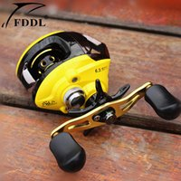 Wholesale Newest FDDL BB Ball Bearings Left Right Fishing Reel red yellow colors Fishing Baitcasting Reel Wheel
