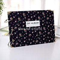 Wholesale 1509 New arrived inches black Floral Album DIY ALBUM Scrapbook for memory photo holder sheet Inner Page Gift Corner sticker