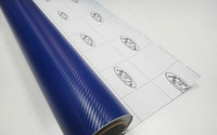 Rear Mirror big blue carbon - 3D Carbon Fiber Vinyl Car Sticker Big Square Texture Film Bubbles Free Blue color m m roll Fedex