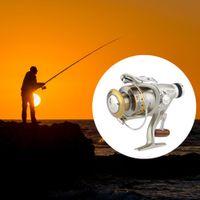 aluminum tensile - 8BB Spool High tensile Power Gear Spinning Reel Aluminum Collapsible Fishing Wheel RB Fly Fishing Reel Fishing Reels