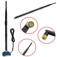 Wholesale 2 GHz dbi RP SMA High Gain WiFi Wireless Booster Antenna For Modem Router New small order no tracking