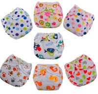 Wholesale new Baby cloth diaper adjustable size water proof and free breathing diapers print colorful color nappy insert