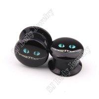 alice earrings - Fashion Jewelry Body Jewelry PAIR of Alice in Wonderland Cheshire Cat Cartoon Design Acrylic Ear Plugs and Tunnels Ear Gauges Earrings