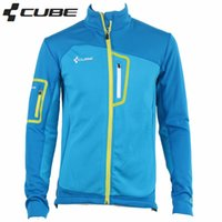 Wholesale Newest Men Cube Warm Thermal polar fleece Moto jacket Bicycle Bike clothing Cycling Jersey jacket