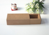 kraft box - 10 CM High quality kraft paper box Jewel gift box Essential oil lipstick packing box