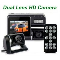 Wholesale High quality i1000 Car DVR Dual Camera Dual Lens Camcorder HD P Dash Cam Black Box With Rear Cam Vehicle View Dashboard