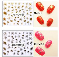 beauty tips summer - 1sheets Summer Designs d Gold Silver White Black Decals Nail Art Tips Sticker Beauty Charm Nail Art Glitter Tools HBJY046